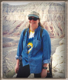 Karen Brzys in the Grand Canyon