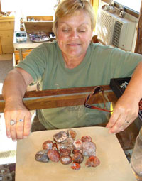 Renee with Agates