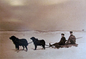 Keating with dogsled