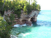 Pictured Rocks Cliff
