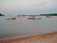 Grand Marais Bay with Boats